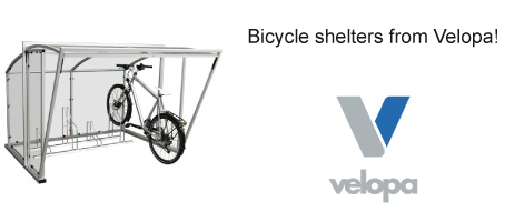 Bicycle shelters from Velopa!