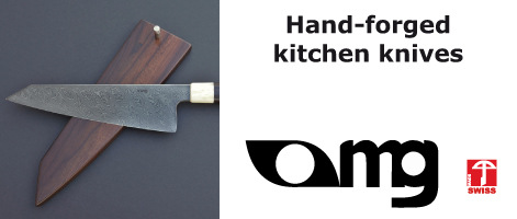 Hand-forged kitchen knives