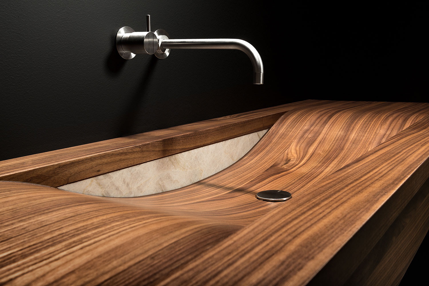 Wooden washbasins by ALEGNA, Swiss Made