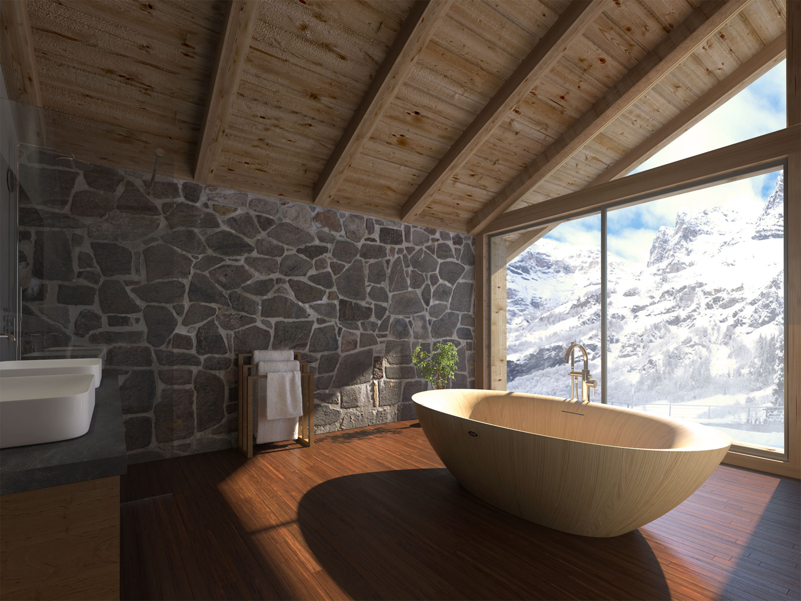 Wooden bathtubs for spa by ALEGNA