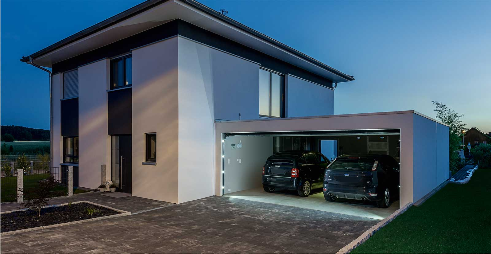 Concrete garage prefabricated and carport by Bangerl