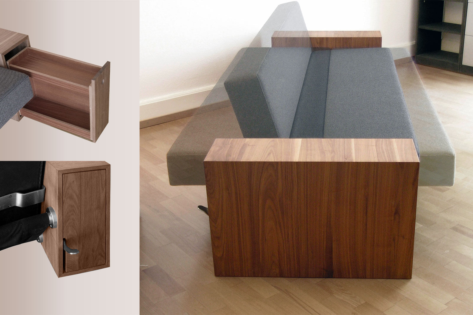 Design furniture individual and made to measure by Roberto Della Pietra, Switzerland