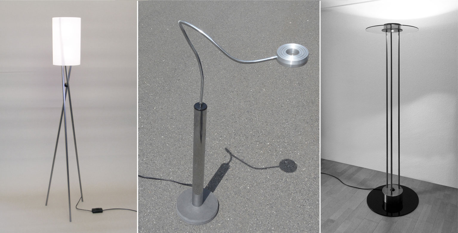 Design lamps made to measure by Roberto Della Pietra, Swiss Made
