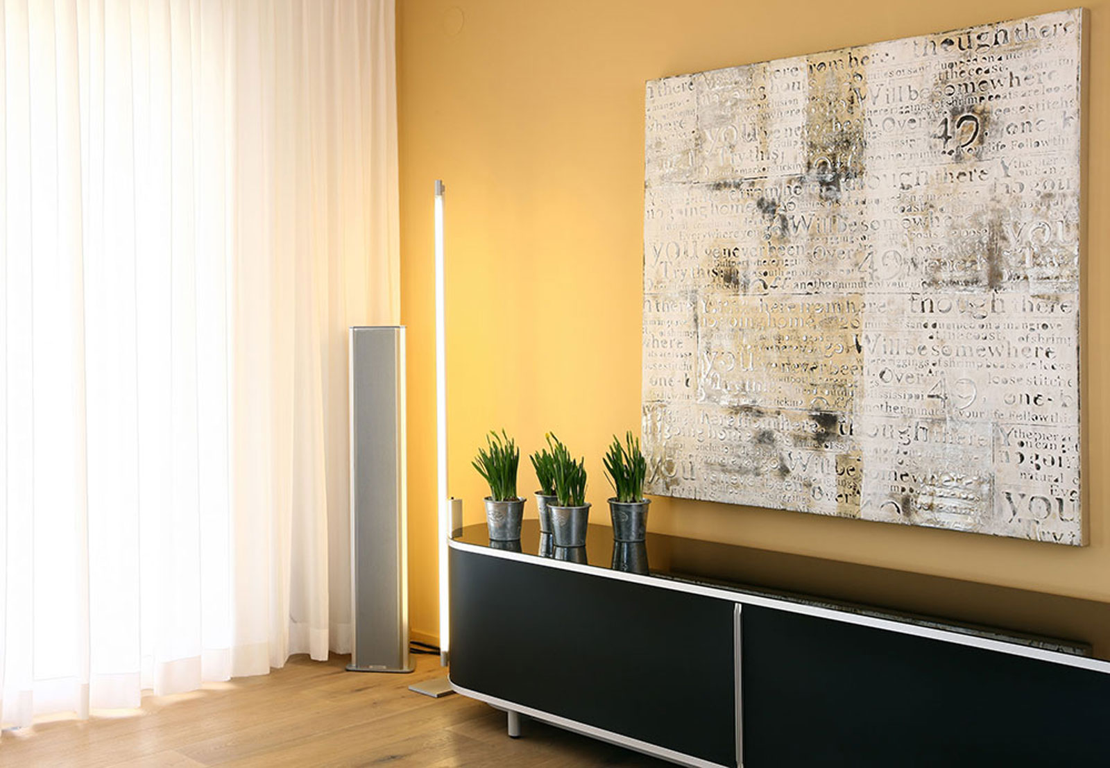 Living room with sideboard, design by Diwefa Winterthur, Switzerland