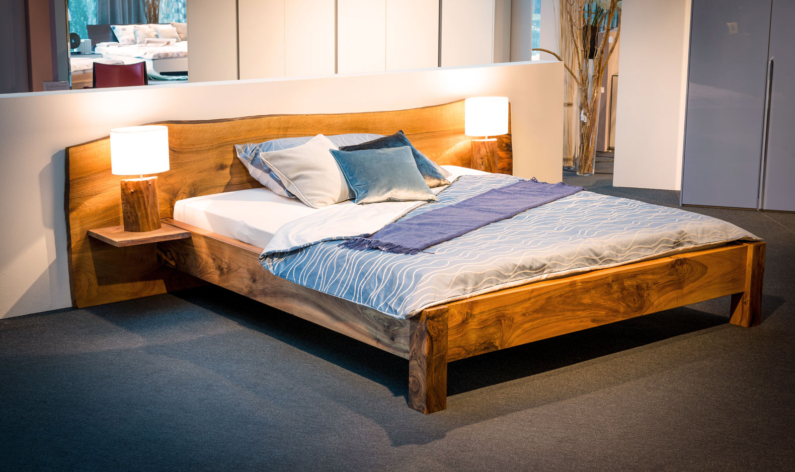 Solid wood bed by Fanger Design, Swiss Made
