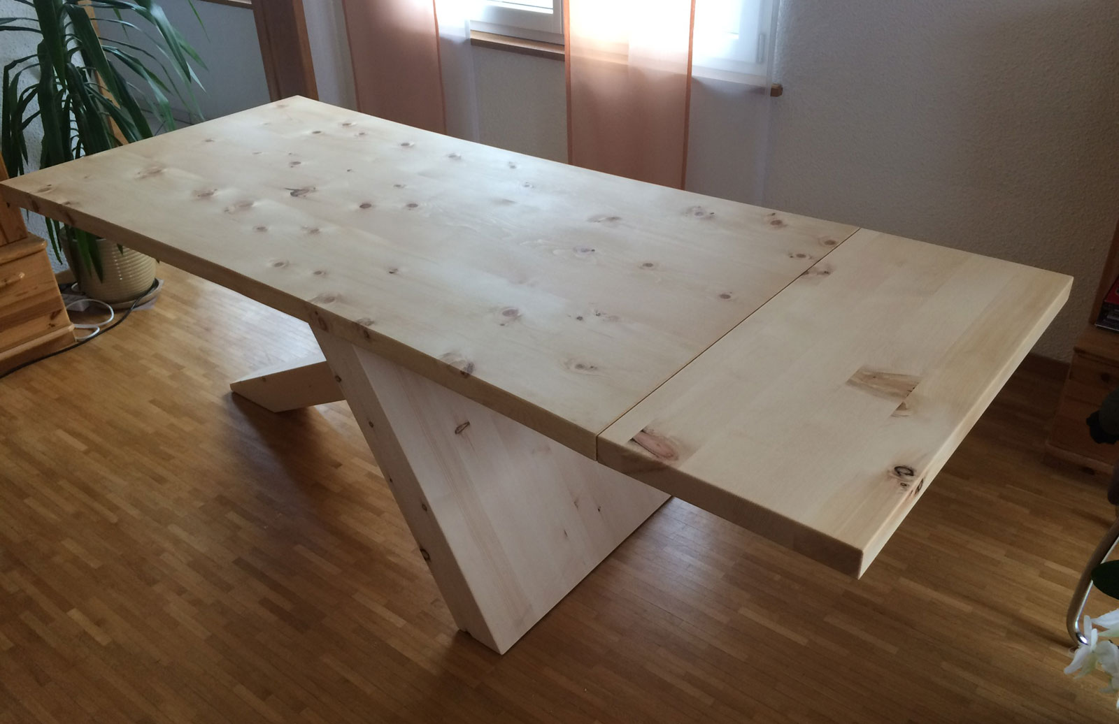 Table of solid wood by Beat Fischer, always unique, Swiss Made