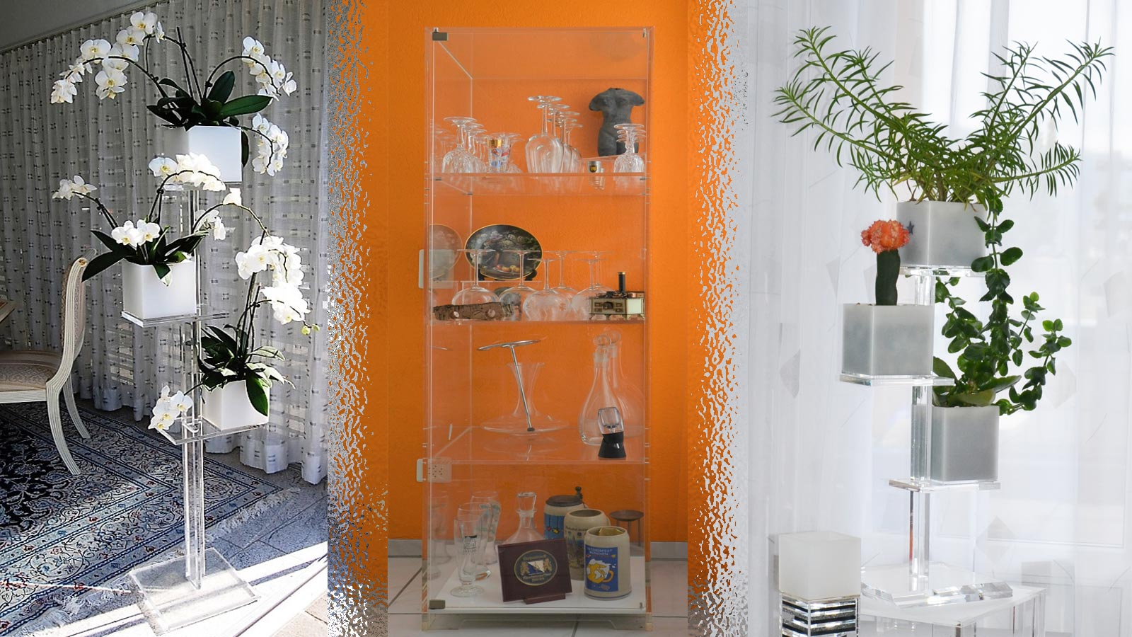 Plexiglass showcase and accessories by FREWAG