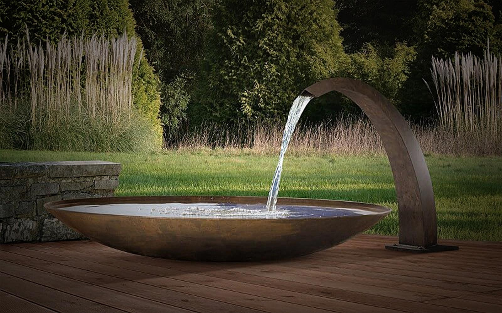 Fountains and water features of garden fire, Swiss products