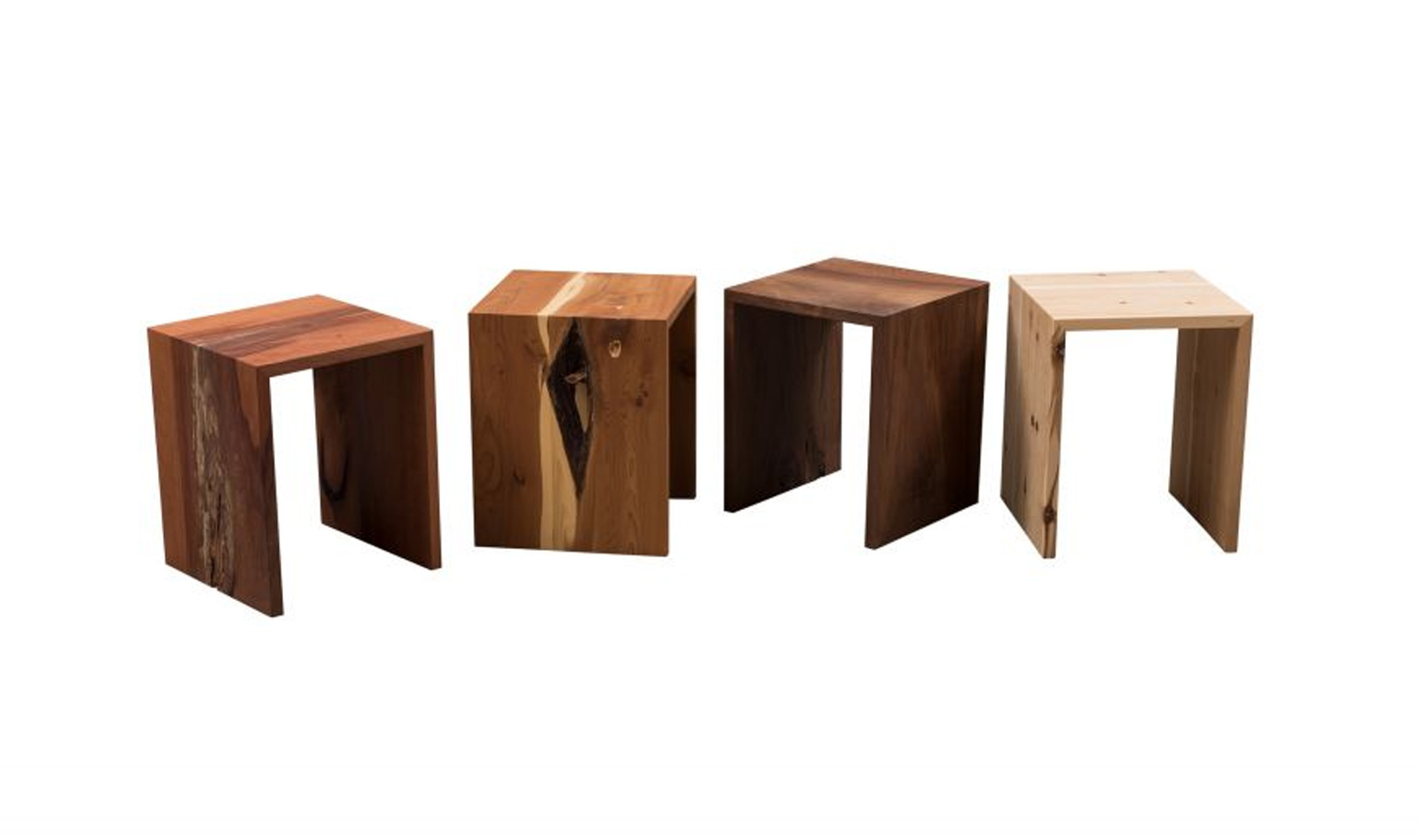 Design stool or side table made of solid wood from the monastery carpentry Fischingen, Swiss Made
