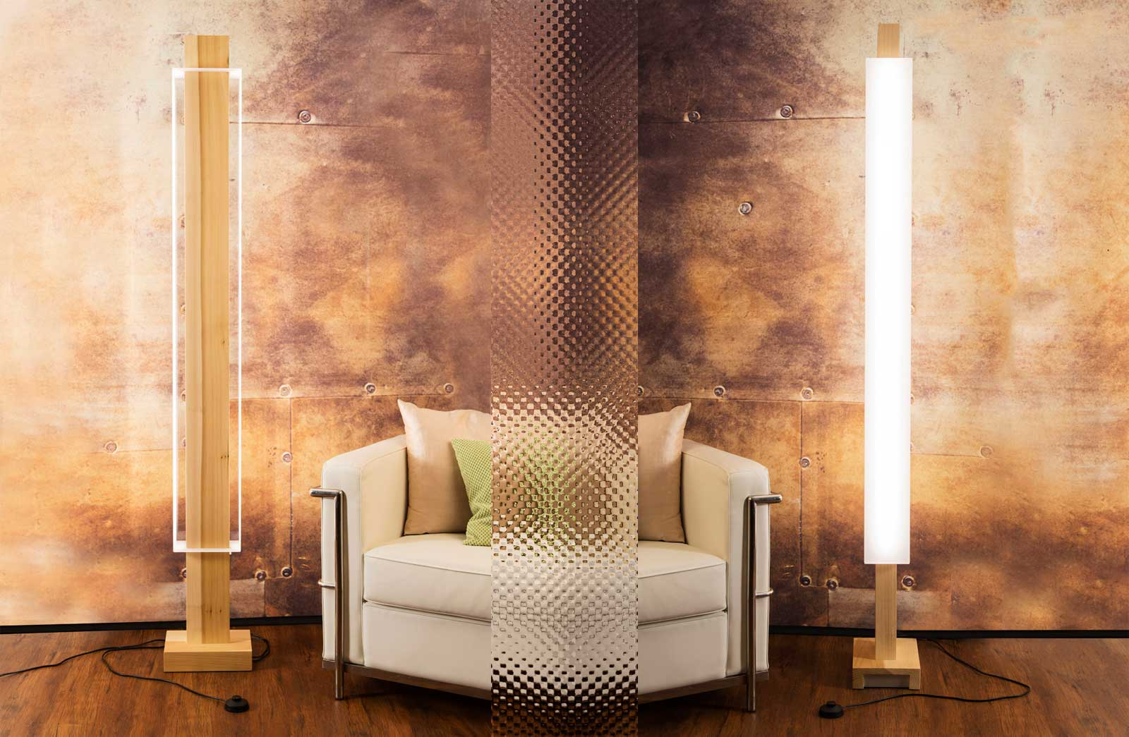 Floor lamp Osca, dimmable by mamoArts