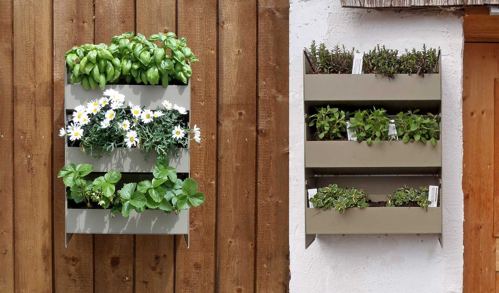 Stacking garden on the balcony for urban gardening by Stapelgarten