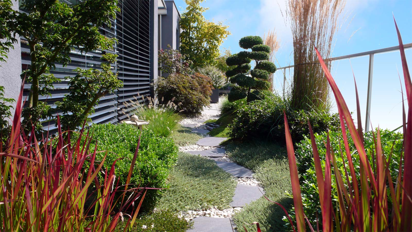 Terrace planting and planning with veranda viva, Swiss