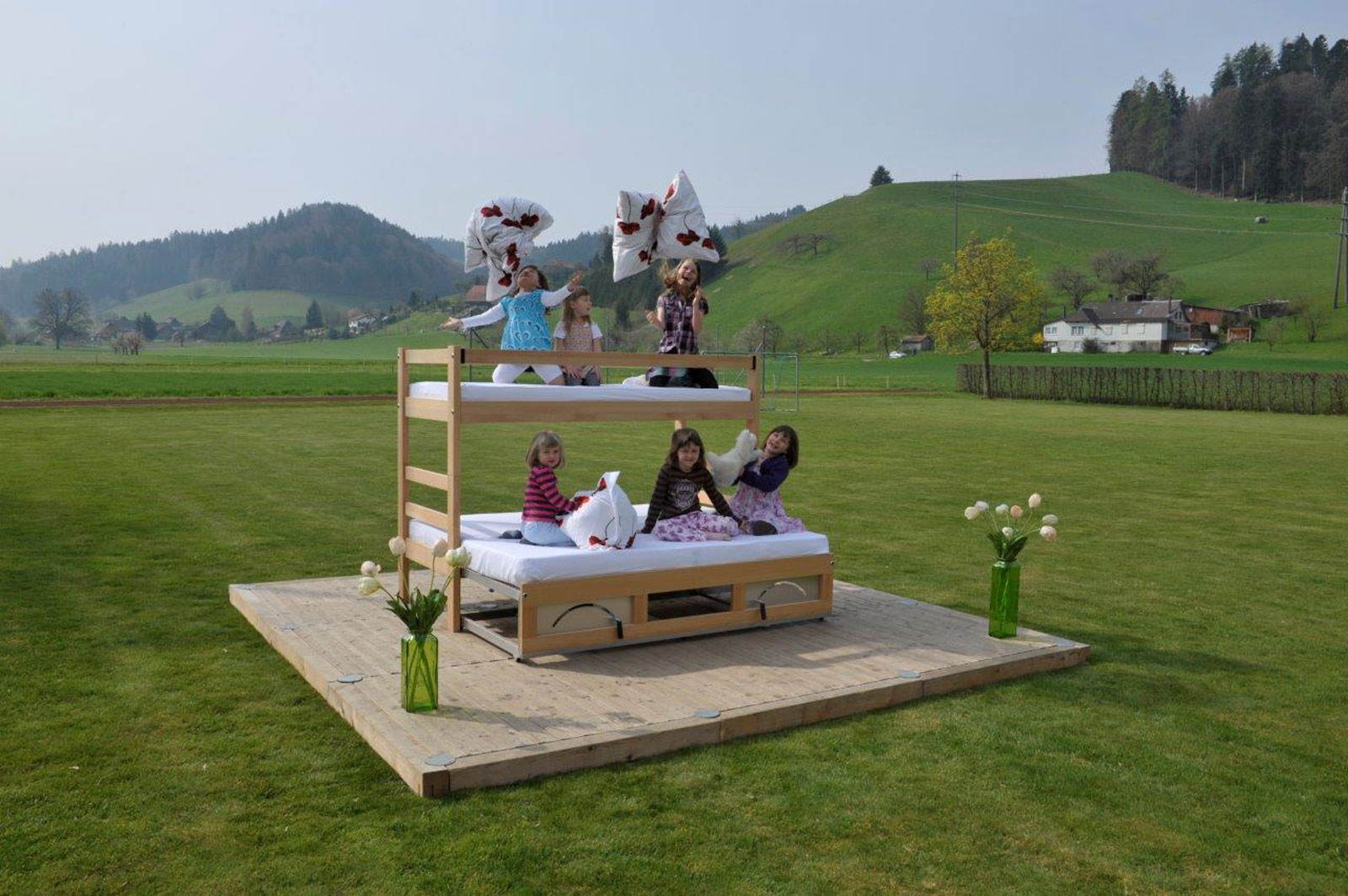 Extendable beds by ZAHO, Swiss